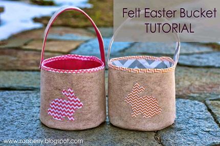 Tutorial: Felt and fabric Easter bucket