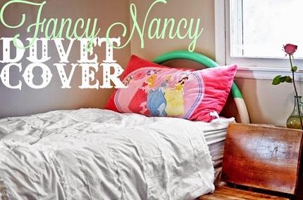 Tutorial: Fancy Nancy or shabby chic duvet cover