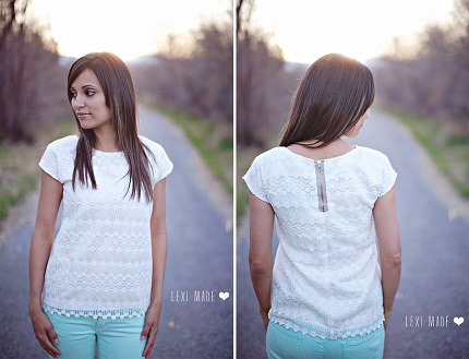 Tutorial: Lace top with exposed zipper