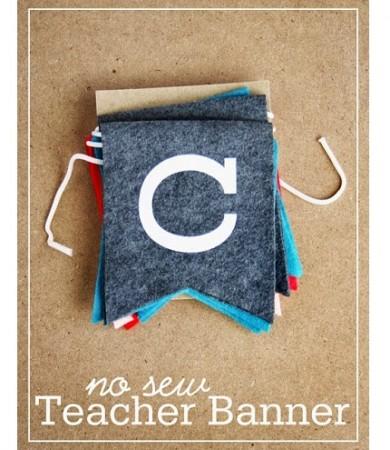 Tutorial: No-sew teacher appreciation banner