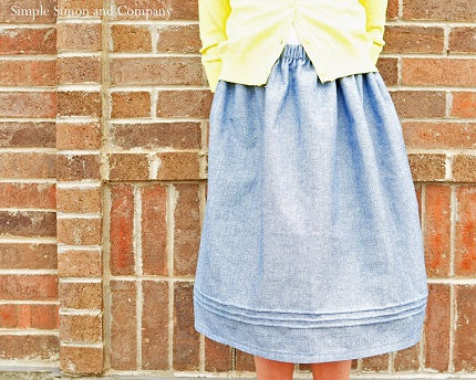 Tutorial: Pintucked gathered skirt