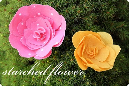Tutorial: Starched fabric flowers,  no sewing required