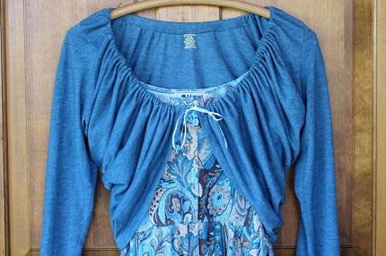 Tutorial 10 Minute Gathered T Shirt Shrug Sewing