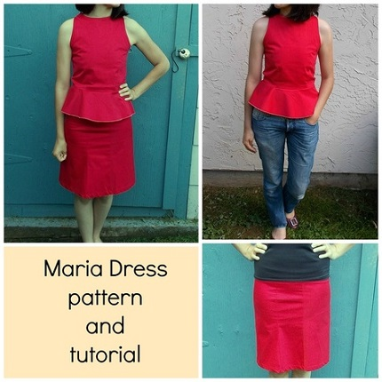 Tutorial: Maria peplum dress set