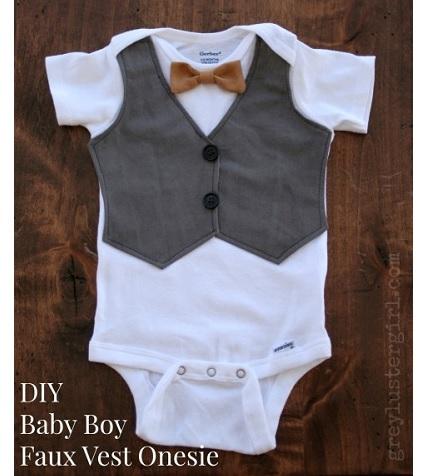 6cbe989e3 Tutorial: Baby boy faux vest onesie – Sewing