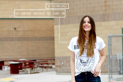 Tutorial: Give an oversized tee a more flattering fit