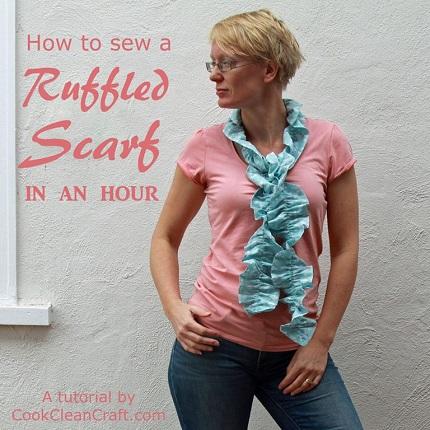 Tutorial: 1-hour ruffled scarf