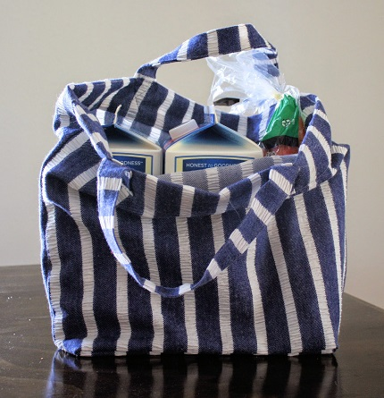 Tutorial: Reusable fabric shopping bag
