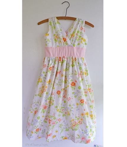 Tutorial: Blushing Izzy gathered surplice dress