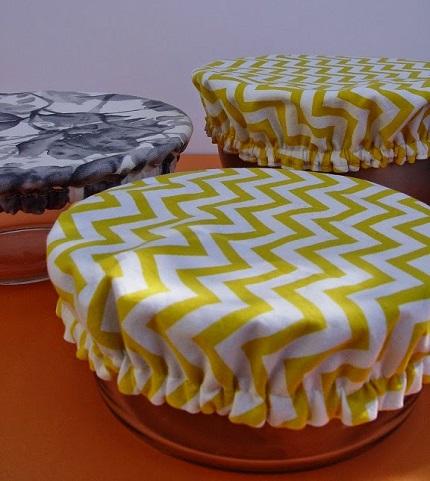 Tutorial: Reusable fabric bowl covers