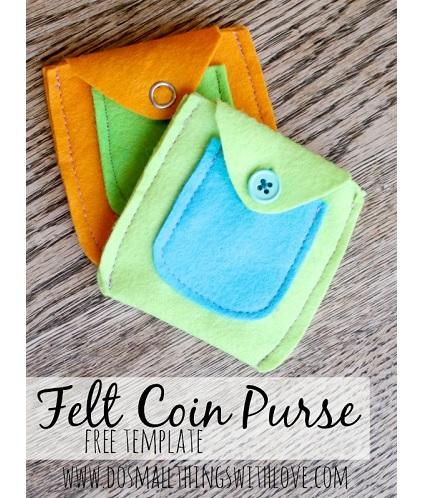 Tutorial Felt Coin Purse Sewing