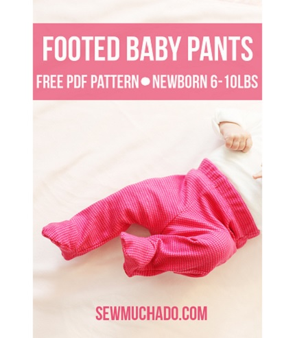 Free pattern: Footed baby pants