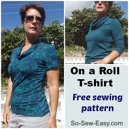 Free pattern: On A Roll T-shirt