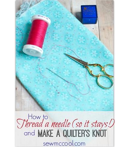 Tutorial: No slip needle threading technique, plus an easy knot