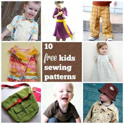 10 free kids sewing patterns