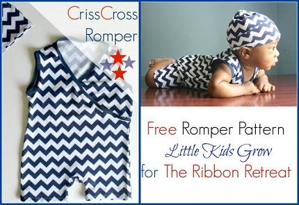 Free pattern: Criss Cross Romper for babies