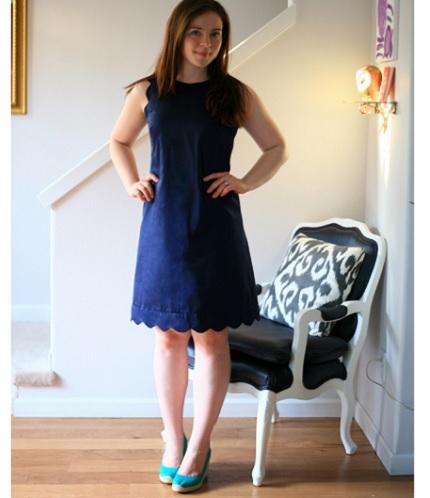 Tutorial: Scalloped shift dress