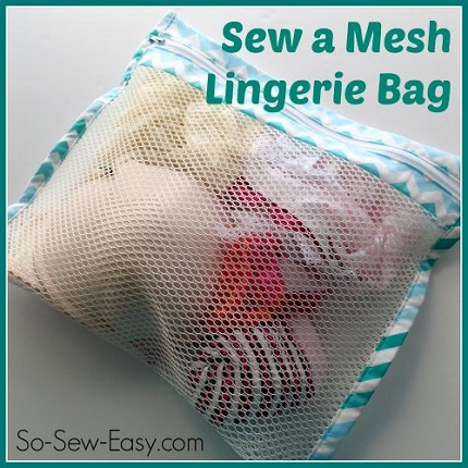 Tutorial Mesh Lingerie Laundry Bag Sewing
