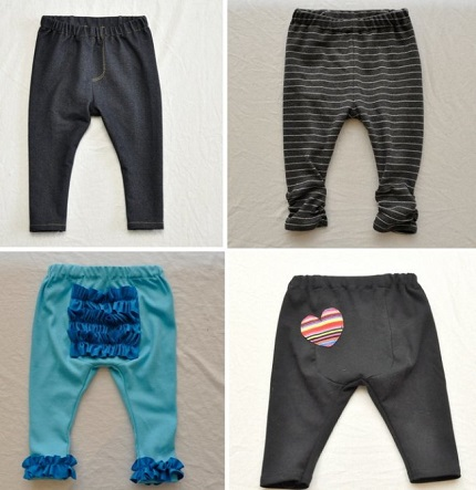 Free pattern: Baby Got Back Leggings designed for cloth diapered babies