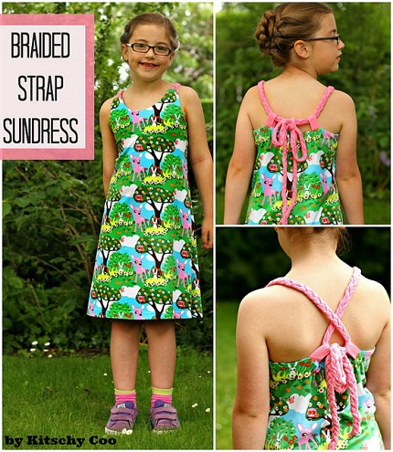 Free pattern: Girl's convertible strap sundress