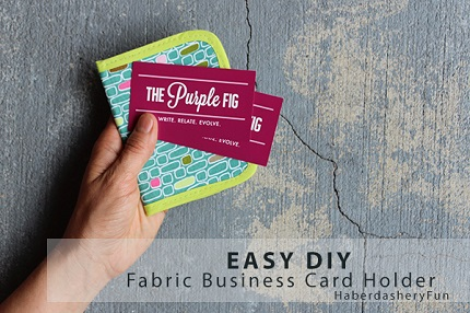 Tutorial Easy Business Card Wallet Sewing