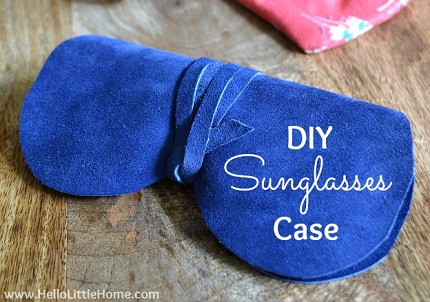 Tutorial: Super easy open side suede sunglass case
