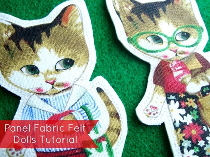 Tutorial: Make felt backed flannel board dolls from a panel print