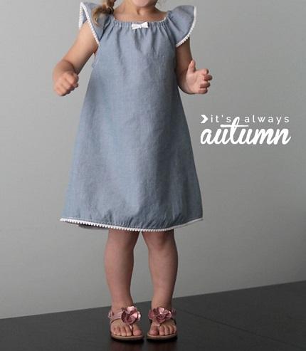 Tutorial: Little girl's flutter sleeve peasant dress