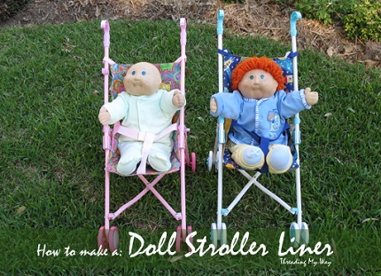 Tutorial: Make a new doll stroller seat