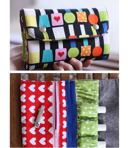 Free pattern: Snappy Mani Pouch