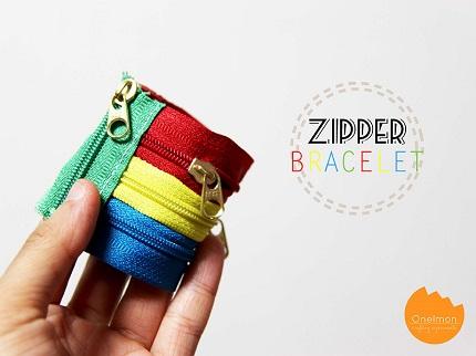 Tutorial: Zipper cuff bracelet
