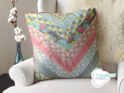 Tutorial: Cascading Chevrons throw pillow