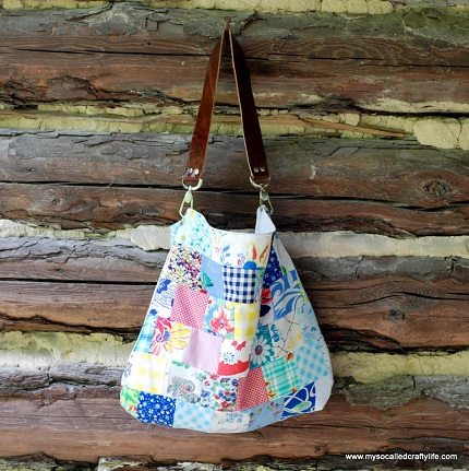 Tutorial: Sweet Vintage Scrappy Patchwork Tote