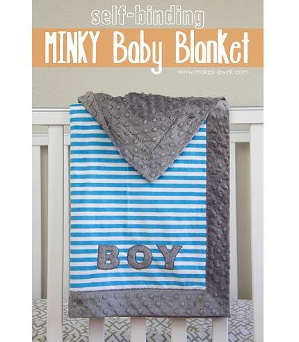 Tutorial: Self binding minky baby blanket
