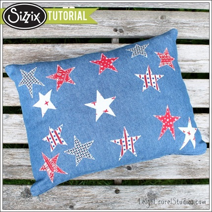 Tutorial: Denim and stars pillow cover