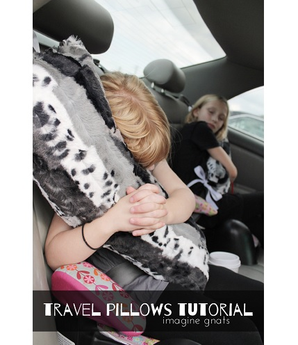 Tutorial: Seat belt travel pillow