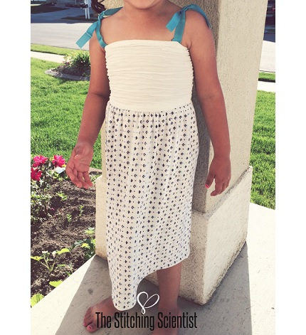 Tutorial: Easy knit sundress for a little girl