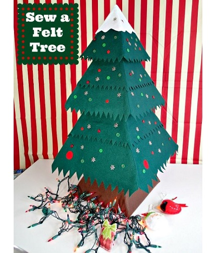 Free pattern: Felt Christmas tree, plus a printable for miniature felt ornaments