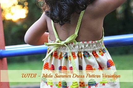 Tutorial: 30-minute little girl summer dress
