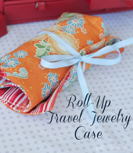 Tutorial Roll Up Travel Jewelry Case Sewing