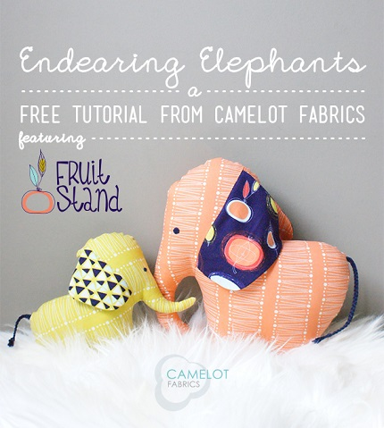 Free pattern: Endearing Elephants mama and baby softies