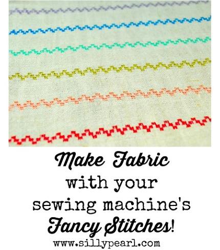 Tutorial: Make custom fabric designs using your sewing machine's decorative stitches