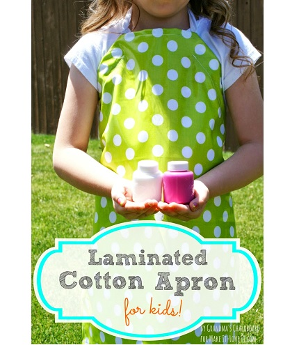 Tutorial: Child's laminated fabric apron