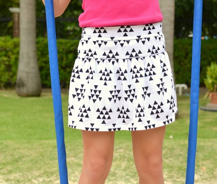 Free pattern: Girl's Monkey Bar Skirt with built in shorts