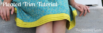 Tutorial: Pleated hem band