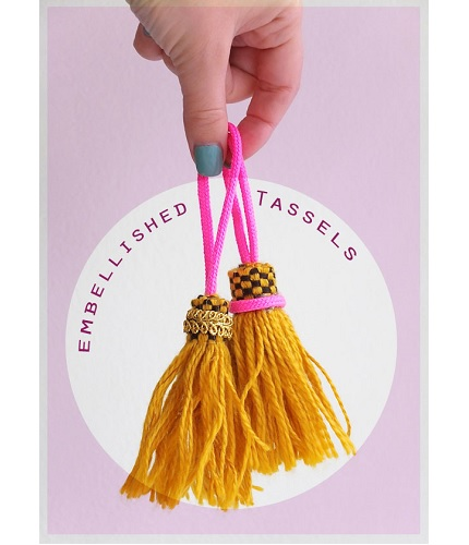 Tutorial: Easy embellished tassels