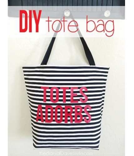 Tutorial: Totes Adorbs tote bag