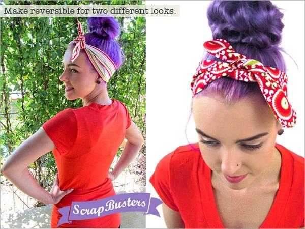 Free pattern: Vintage style headband ties