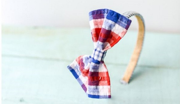 Tutorial: No-sew preppy bow headband