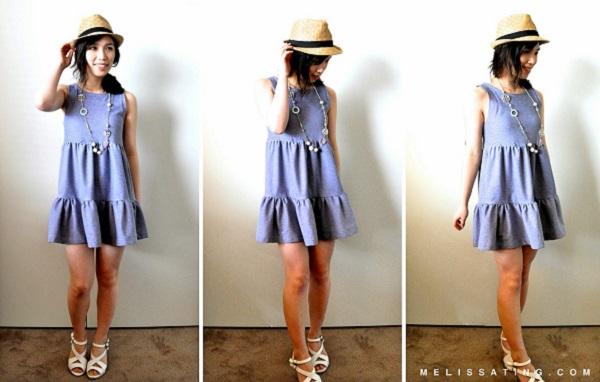 Tutorial: Tiered mini dress